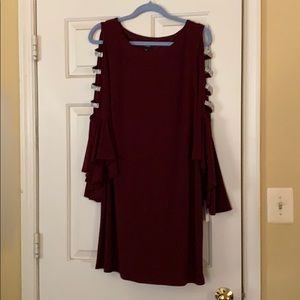Burgandy and Rhinestone Dress